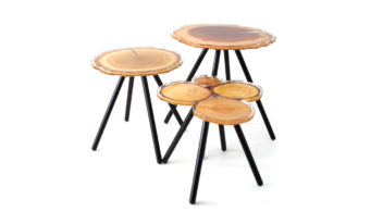 Gigoge quebue side table 3 set made in france