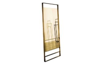 Elegant metal frame floor mirror